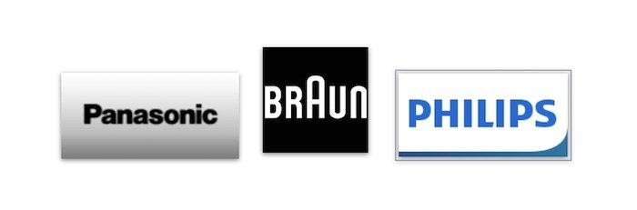 フィリップス、ブラウン、パナソニックの3大メーカーから選ぶ