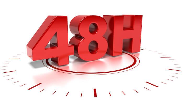 大胸筋の超回復スピードは48時間