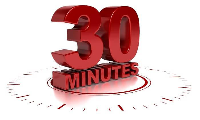 「1日30分」で集中的に追い込む