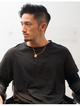 黒髪×ツーブロック