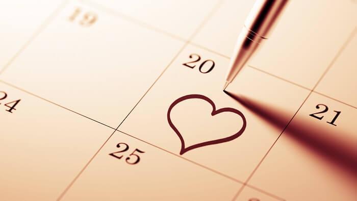 付き合う前のデートの頻度は月に2.3回