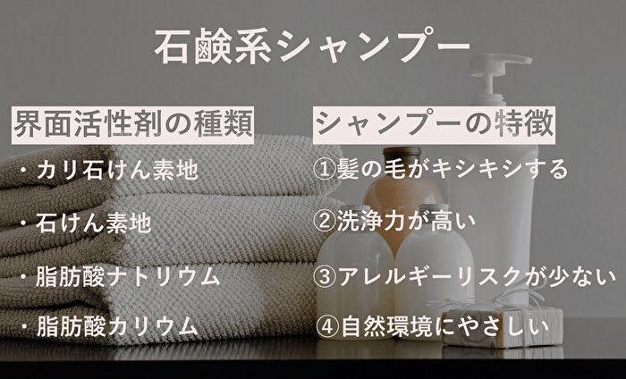 石鹸系シャンプー