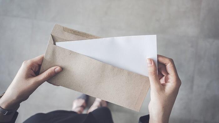 ④手紙で想いを伝える