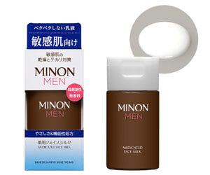 3位:ミノン メン 薬用フェイスミルク