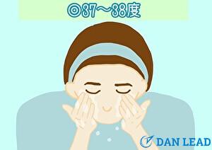 洗顔ステップ2.ぬるめのお湯で予洗いをする
