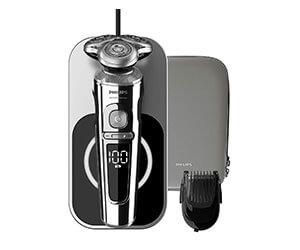 フィリップス 9000 プレステージ メンズ 電気シェーバー 72枚刃 回転式 お風呂剃り & 丸洗い可 SP9863/16