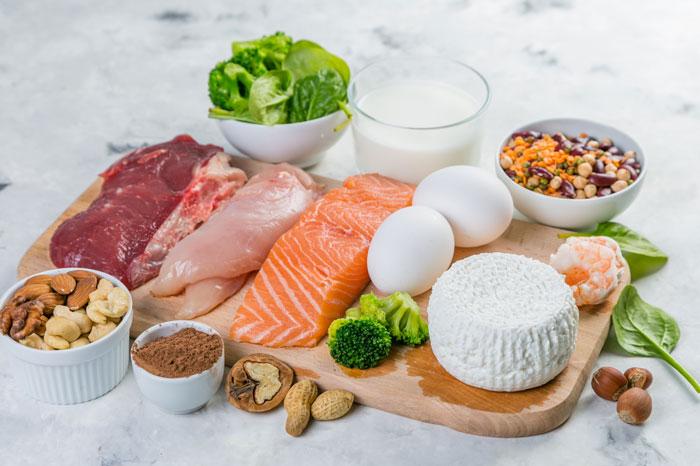 炭水化物を少なくして、タンパク質を多くする