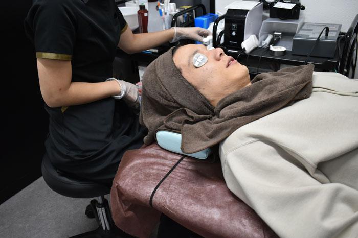肌状態に合わせたスキンケアの施術